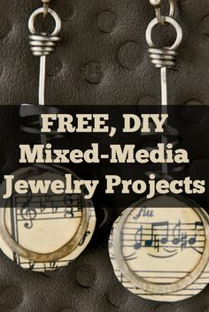 Leather, Fabric, Glass & Paper—Oh My! Learn how to make mixed-media jewelry with these 6 FREE projects! #mixedmedia #diyjewelry #jewelrymaking