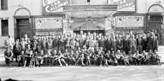 Captured in 1936 of the Newsboys outside of the Howard Theatre