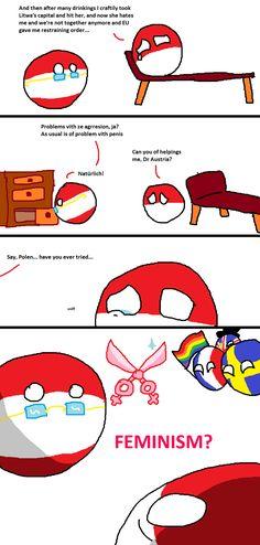 Dr Austria saves the day - Polandball