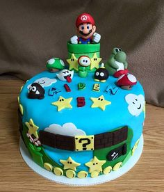 Funny pictures about Mario Cake. Oh, and cool pics about Mario Cake. Also, Mario Cake photos. Mario Bros Cake, Super Mario Cake, Creative Cakes, Creative Food, Snake Cakes, Colorful Cakes, Novelty Cakes, Occasion Cakes, Culinary Arts