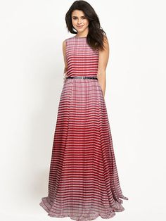 8b5df7215a9 Maroon Striped Georgette Maxi Dress Best Online Shopping Websites