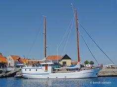 ANN MARI seen here in Gudhjem Bornholm / Denmark, the ship is based in Svendborg, Denmark Getting Married In Denmark, Ship Tracker, Scandinavian Countries, San Francisco Skyline, Norway, Ann, Boat, Country, Places