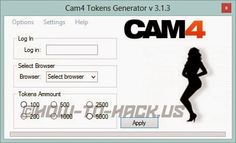 CAM4 tokens