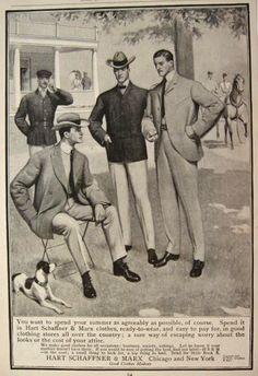 1902 Hart Schaffner & Marx Men's Fashion Ad
