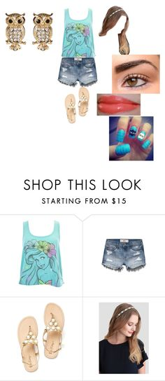 """""""FMS~JG"""" by queen-shadow ❤ liked on Polyvore featuring Hollister Co., Too Faced Cosmetics and Amrita Singh"""