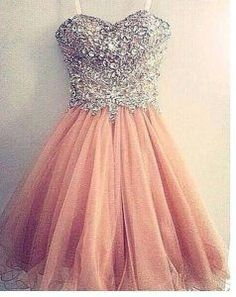 Blush pink homecoming dress,short prom by solo on zibbet Dama Dresses, Cute Prom Dresses, 15 Dresses, Quinceanera Dresses, Grad Dresses, Pretty Dresses, Homecoming Dresses, Beautiful Dresses, Formal Dresses