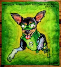 Artist Nina Levy draws superhero dogs on her son's napkins each day.