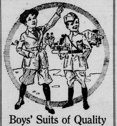 Boy's suits of Quality from November 26, 1918  Seattle Star