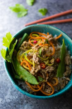 Lemongrass Thai Ground Pork Stir Fry, an easy and healthy dinner recipe ready in 30 minutes!