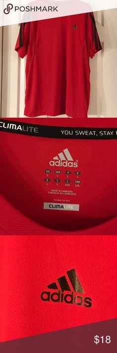New- Adidas Climalite Soccer shirt. New- Never worn. Adidas Climalite Soccer shirt. Red/black details. No trades please. Adidas Shirts Tees - Short Sleeve