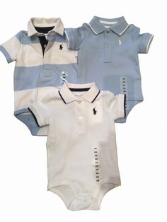 Ralph Lauren Baby Boys Polo Bodysuits Newborn - 9 months #polo #babyclothes