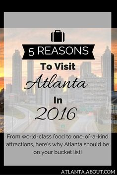 From world-class food to one-of-a-kind attractions, here's why Atlanta should be on your bucket list. Visit Atlanta, World Class, Attraction, Bucket, History, News, Top, Historia, Buckets