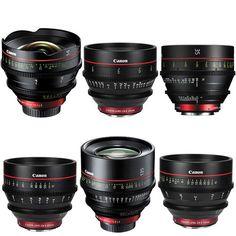 Canon EF Cinema Prime Lens Kit (14, 24, 35, 50, 85, 135mm)