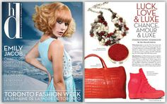 Originals by Andrea necklace featured in Luck, Love & Luxe! for Canadian Hairdresser Magazine.