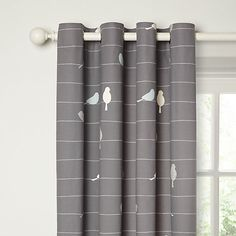 Buy Steel John Lewis Bird on a Wire Lined Eyelet Curtains, x Drop from our Ready Made Curtains & Voiles range at John Lewis.
