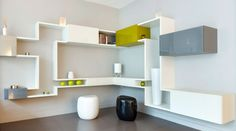 Sectional wall-mounted storage wall 30mm / LAGOLINEA LagoLinea Collection by Lago   design Daniele Lago