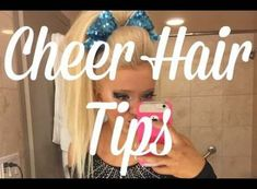 Maddy's Tips for Perfect Cheer Hair Cheer Hair Tutorial, High Ponytail Tutorial, Kids Cheering, Cheer Mom, Cheer Stuff, Competition Hair, Girl Hair Dos, Cheer Pictures, Cheer Pics
