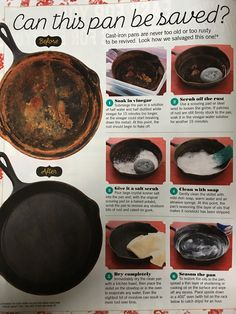 Cast iron from the pioneer woman fall 2017 read it on the texture app unlimited access to 200 top magazines Household Cleaning Tips, Cleaning Recipes, House Cleaning Tips, Cleaning Hacks, Cleaning Solutions, Cleaning Supplies, Cast Iron Skillet Cooking, Iron Skillet Recipes, Cast Iron Recipes