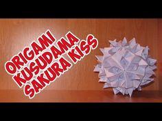 DIY: Origami Kusudama Sakura Kiss\折り紙くす玉桜キッス - YouTube