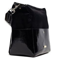 Μαύρη τσάντα λουστρίνι/βελούδο