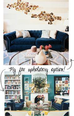 chesterfield sofa in velvet