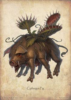 Paizo monster - Sythnigot Pig by ~DevBurmak on deviantART
