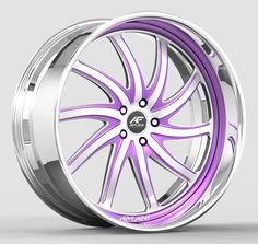 Amani Forged Entourage Wheel - Standing Rims And Tires, Rims For Cars, Chrome Wheels, Car Wheels, Pink Rims, Purple Cars, 22 Inch Rims, Cute Car Accessories, Car Sounds