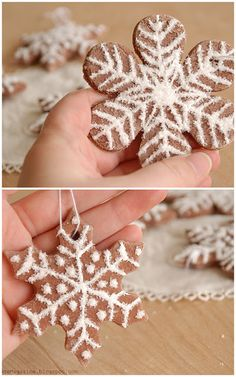 Nice recipe and technique using glitter to make salt dough ornaments!