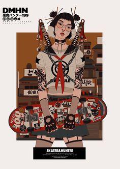 Mau Lencinas aka 199hates trägt ganz offensichtlich viel Liebe für japanische Cartoons der 90er, sowie für aktuelle Streetwear-Fashion im Herzen.