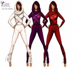 I'll be honest the white one makes me think of Padema in starwars and the red one obviously Sith Creative Costuming Designs, Creative Costumes, Color Guard Costumes, Colour Guard, Color Guard Uniforms, Other Outfits, Character Outfits, Dance Outfits, Fashion Sketches