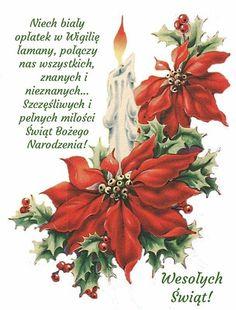 Kartka świąteczna 🎅🎅🎅🎅🎅 - #kartka #świąteczna #teczna #x1f385 #x1f385x1f385x1f385x1f385x1f385 Polish Christmas, Christmas Poinsettia, Christmas Time, Merry Christmas, Xmas Greetings, Christmas Greeting Cards, Christmas Pictures, Winter Time, Decoupage