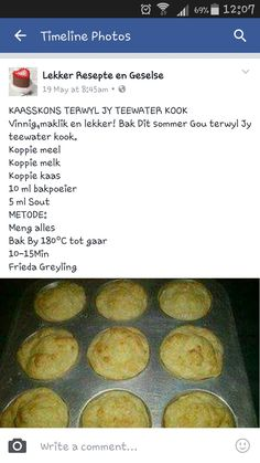 Kaas Skons South African Recipes, Savoury Baking, Afrikaans, Scones, Kos, Food Inspiration, Foodies, Cake Recipes, Biscuits