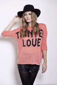 Florencia Llompart colección otoño invierno 2014. Moda sacos tejidos invierno 2014.