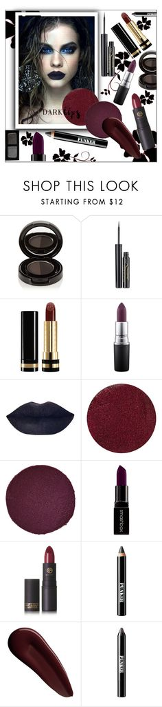 """Dark lips"" by frenchfriesblackmg ❤ liked on Polyvore featuring beauty, Anastasia Beverly Hills, Elizabeth Arden, Gucci, MAC Cosmetics, Lipstick Queen, Christian Louboutin, Smashbox, Ardency Inn and Surratt"