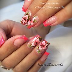 Listed here are 10 techniques for getting your glow on when you find yourself looking noticeably glowless. Nail Art Designs, Pretty Nail Designs, Ongles Bling Bling, Bling Nails, Hot Nails, Hair And Nails, Tropical Nail Designs, Gel Nail Art, Flower Nails