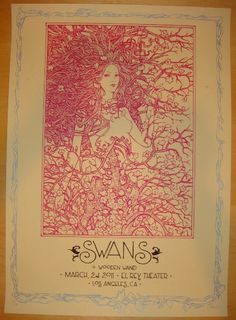 2011 Swans - Los Angeles Silkscreen Concert Poster by Malleus
