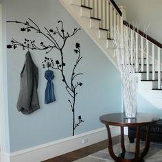Wandgestaltung Treppenhaus Deko Wandsticker