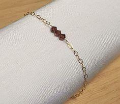 Bordeaux bracelet, gold filled bracelet, Swarovski bracelet, crystals bracelet…