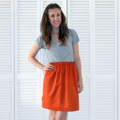 Simple skirt. Good explanation of measurements