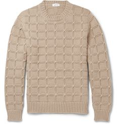 BrioniSlim-Fit Cable-Knit Cashmere Sweater. Brioni's sweater has been made in Italy from sumptuously soft cashmere. The cable-knit technique creates a smart checked pattern. Emulate the label's luxurious aesthetic by teaming yours with tailored trousers.