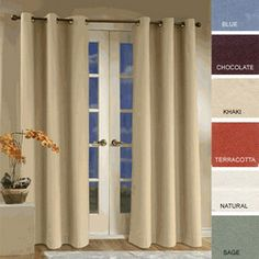 thermal insulated curtains, great for single pain/ leaky windows at the cottage