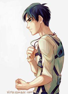Viria's Eren Jaeger! <3<<<He looks like Tadashi and Percy mixed
