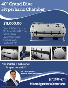 This Dive Mild Hyperbaric Chamber is our most economical and versatile hyperbaric chamber due to its affordable price and small footprint. Kids And Parenting, Be Perfect, Diving, Atlanta, Marketing, Footprint, Children, Amazing, Young Children