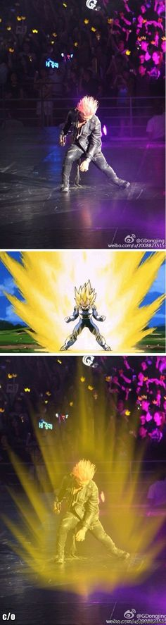 Taeyang looked like he was about to go super saiyan...