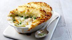 How to make fish pie recipe - BBC Food Bbc Good Food Recipes, Pie Recipes, Seafood Recipes, Recipes Dinner, Vegetarian Recipes, Chicken Recipes, Yummy Food, Easy Fish Pie Recipe, How To Make Fish
