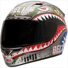 Bell Helmets -Bell Vortex Flying Tiger Full Face Motorcycle Helmet Xsmall