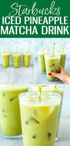 Matcha Drink, Matcha Smoothie, Smoothies, Ginger Smoothie, Pineapple Drinks, Pineapple Recipes, Matcha Green Tea Latte, Matcha Green Tea Powder, Starbucks Recipes