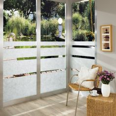 With detail that replicates the look of organic rice paper, this textured window film looks exceptional on shower doors, windows and cabinets. Window Coverings, Window Treatments, Dc Fix, Frosted Window Film, Window Privacy, Window Films, Modern Window Film, Bathroom Windows, Window Dressings