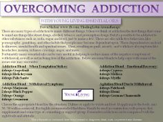 Overcoming Addiction with YL EOs - recipes for when temptation strikes, withdrawal, emotional recovery and agitation blend for withdrawal Essential Oils For Addiction, Essential Oils For Sleep, Doterra Essential Oils, Young Living Essential Oils, Doterra Oil, Essential Oil Chart, Essential Oils For Depression, Roller Bottle Recipes, Overcoming Addiction