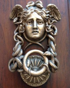 One of several Medusa door knockers on the outside of the Ministero della Difesa #italogram #italy366